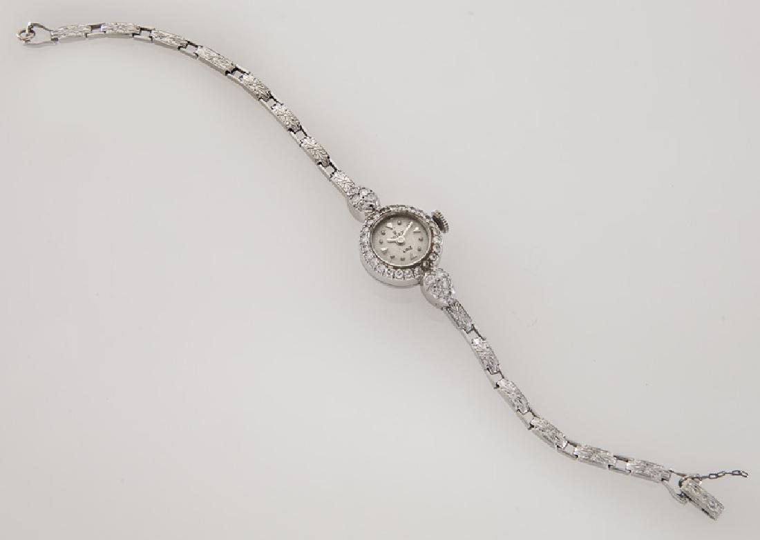 Retro Rolex platinum and diamond bracelet watch - 3