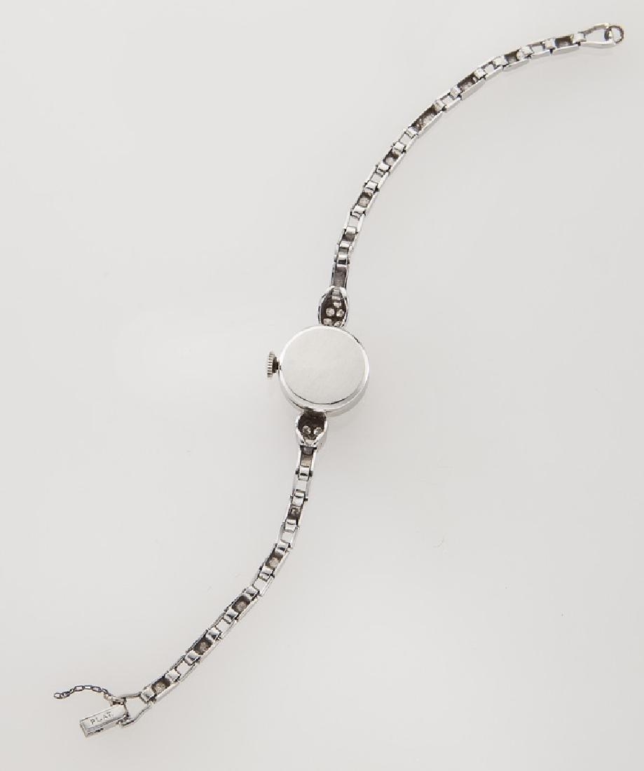 Retro Rolex platinum and diamond bracelet watch - 4
