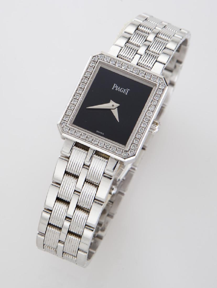 Piaget 18K gold and diamond Protocole wristwatch
