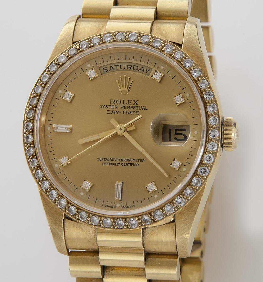 18K gold and diamond day-date Rolex - 2