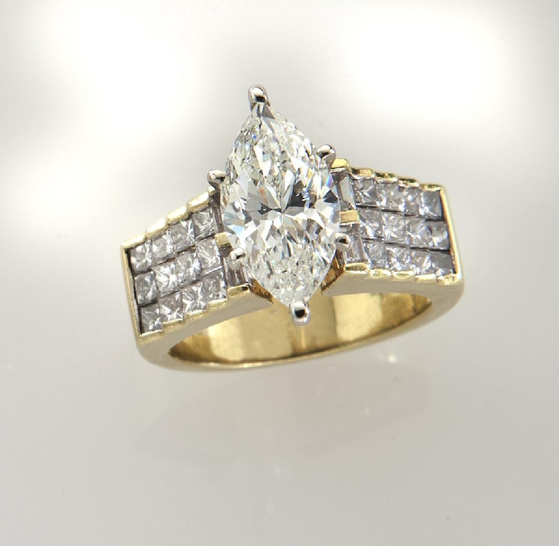 18K and diamond ring featuring a 3.01 ct. (GIA)