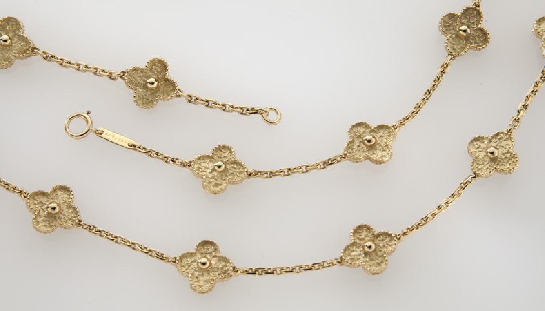 """Van Cleef & Arpels 18K gold """"Alhambra"""" necklace. - 2"""