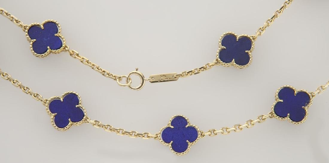 "Van Cleef & Arpels 18K gold and lapis ""Alhambra"" - 2"