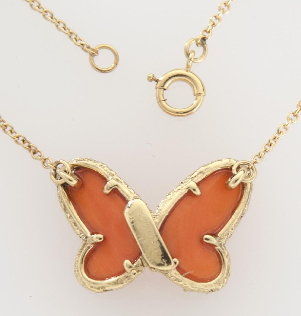 Van Cleef & Arpels 18K, diamond, coral butterfly - 2