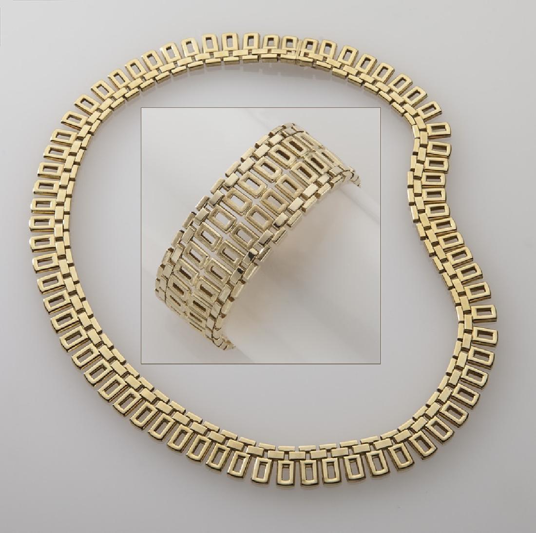2 Pcs. Mod Dep 18K gold jewelry including