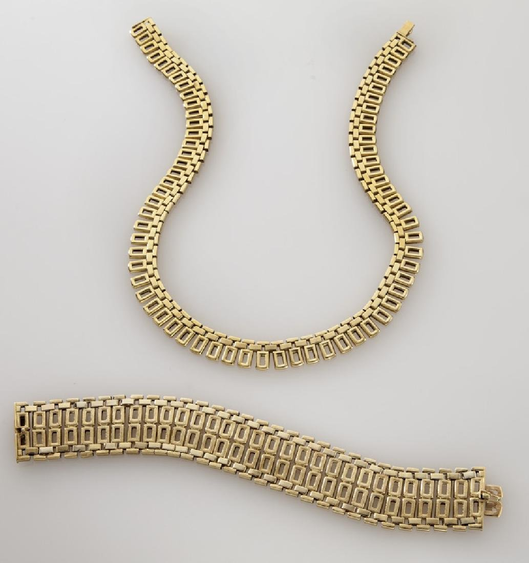 2 Pcs. Mod Dep 18K gold jewelry including - 2