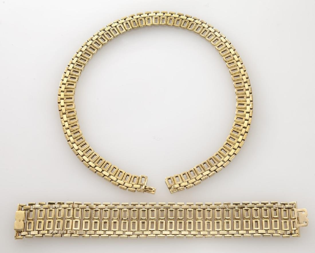 2 Pcs. Mod Dep 18K gold jewelry including - 3