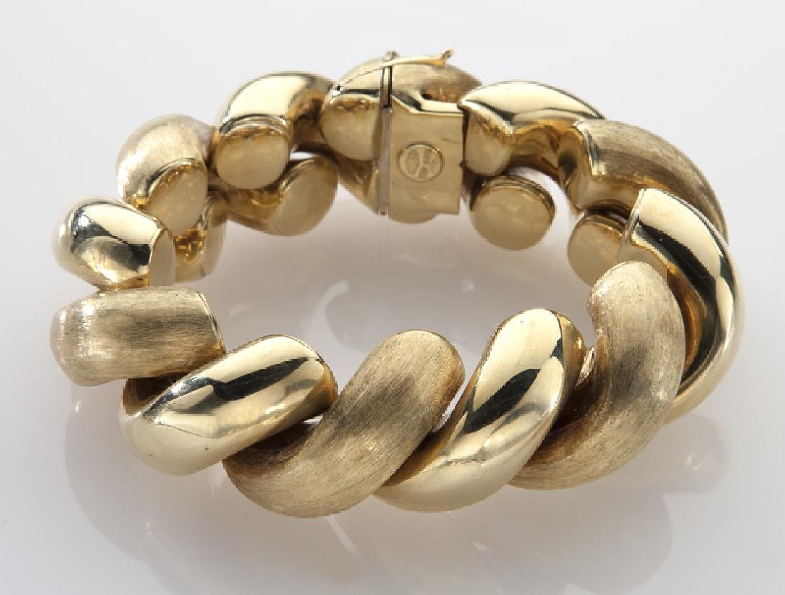 Italian 18K yellow gold cable bracelet - 2
