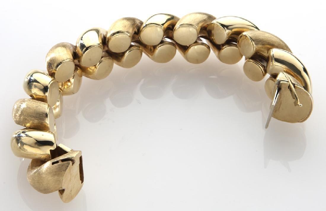 Italian 18K yellow gold cable bracelet - 3