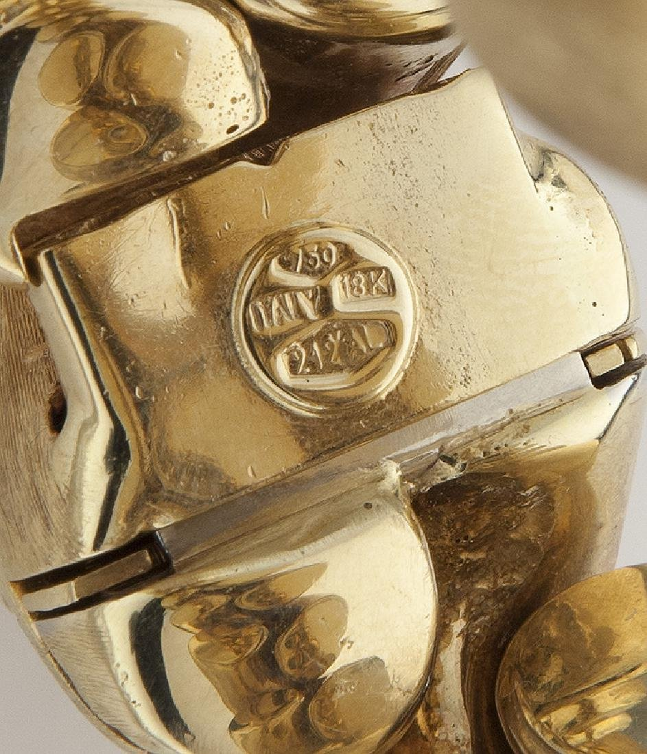 Italian 18K yellow gold cable bracelet - 4