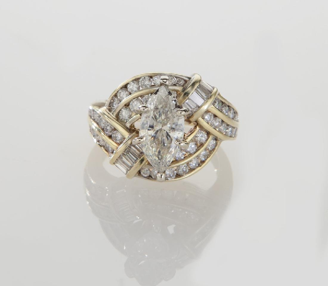 14K and diamond ring featuring a 1.11 ct. (GIA) - 2