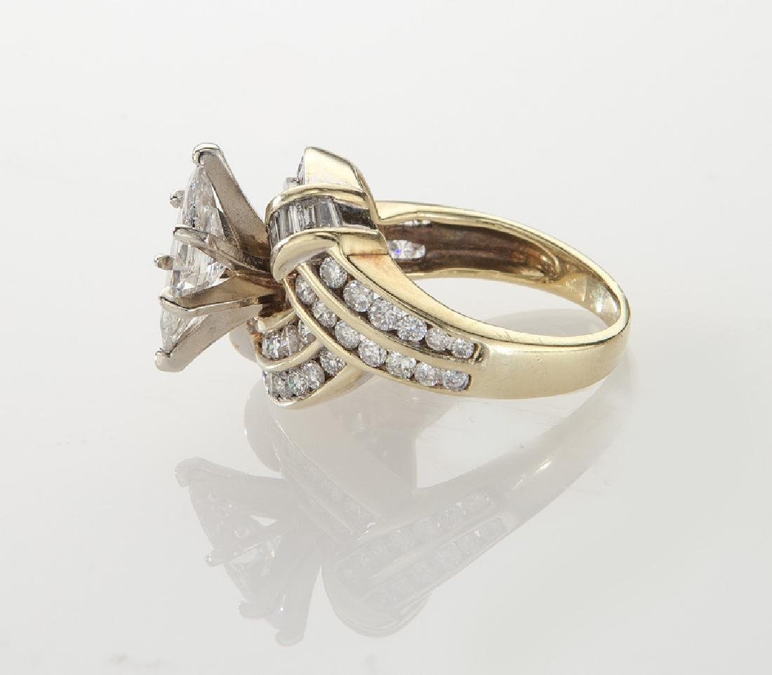 14K and diamond ring featuring a 1.11 ct. (GIA) - 3