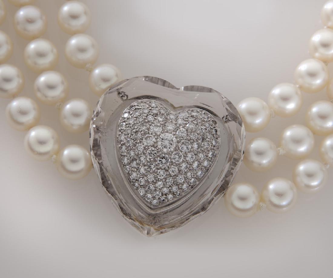 David Webb 14K gold, diamond, crystal and pearl - 2