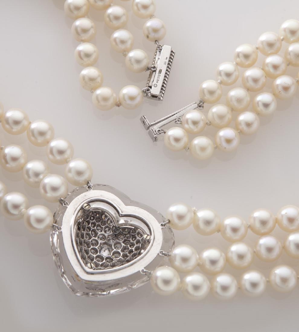 David Webb 14K gold, diamond, crystal and pearl - 4