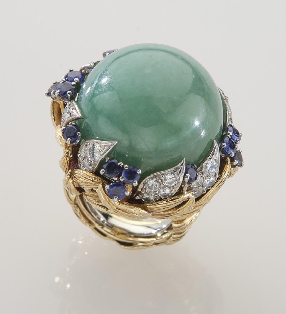 David Webb platinum, 18K gold, diamond, sapphire - 2