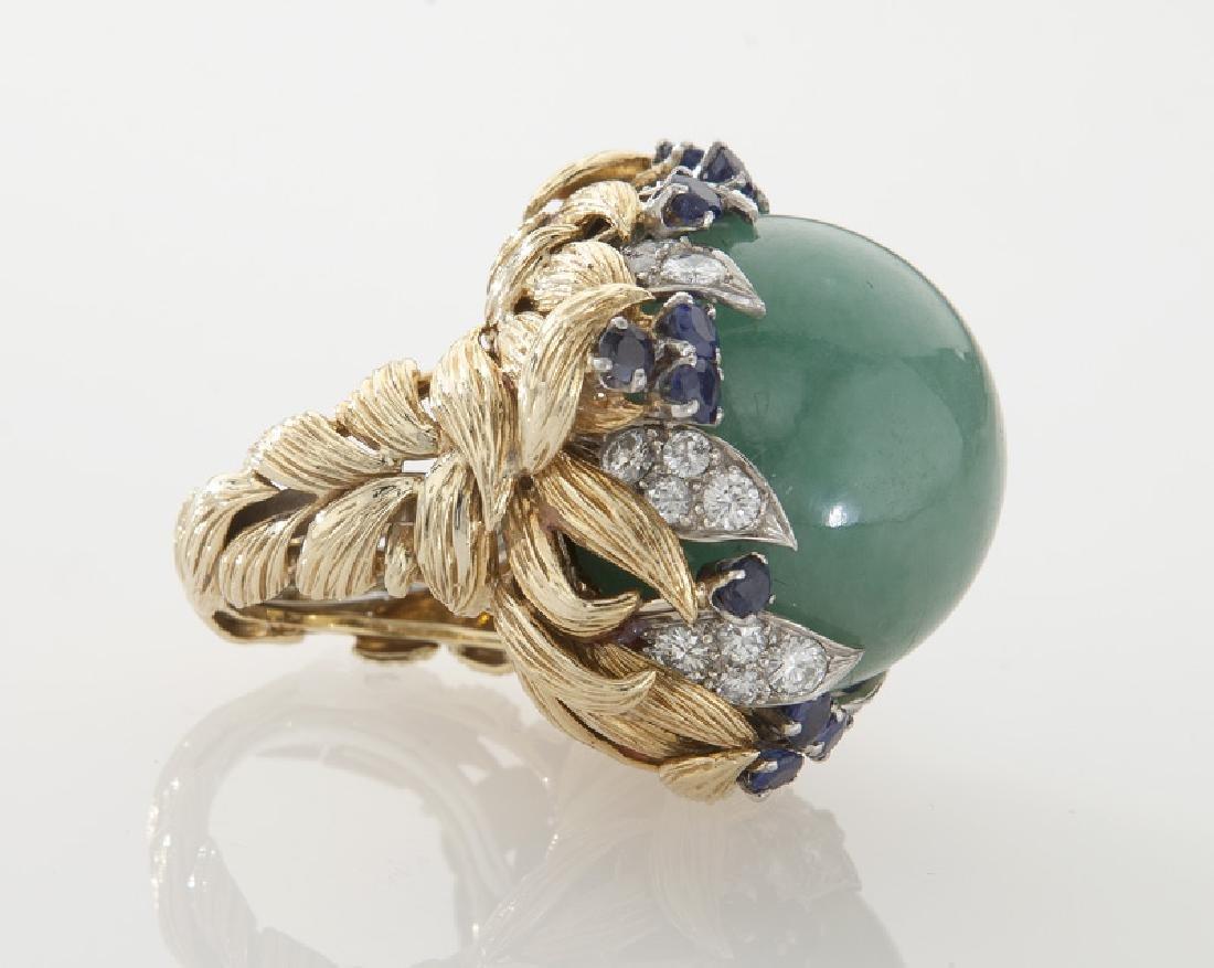 David Webb platinum, 18K gold, diamond, sapphire - 3