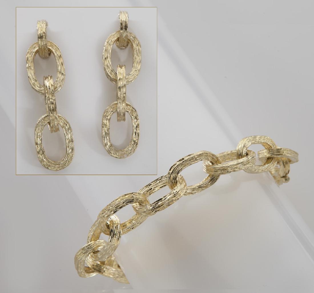 Tiffany & Co. 18K bracelet and earring set