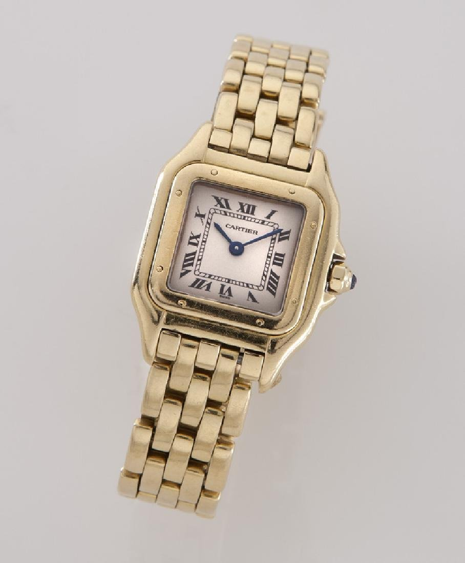 Cartier 18K gold Panthere bracelet wristwatch
