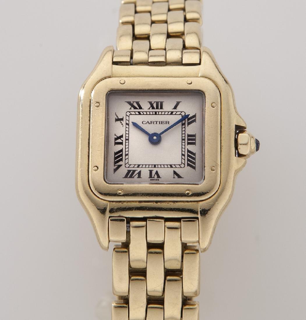 Cartier 18K gold Panthere bracelet wristwatch - 2