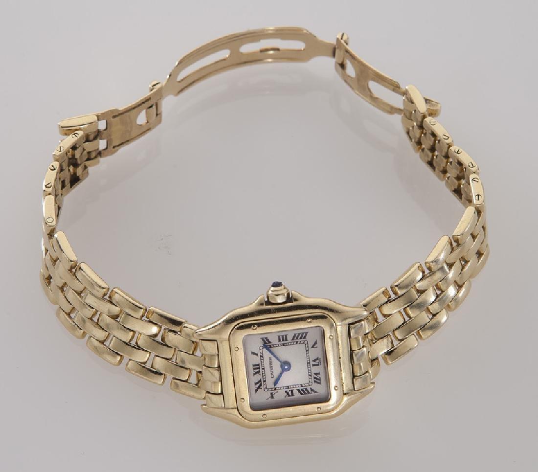 Cartier 18K gold Panthere bracelet wristwatch - 3