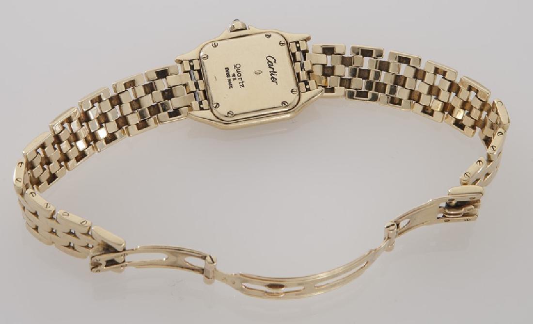 Cartier 18K gold Panthere bracelet wristwatch - 4