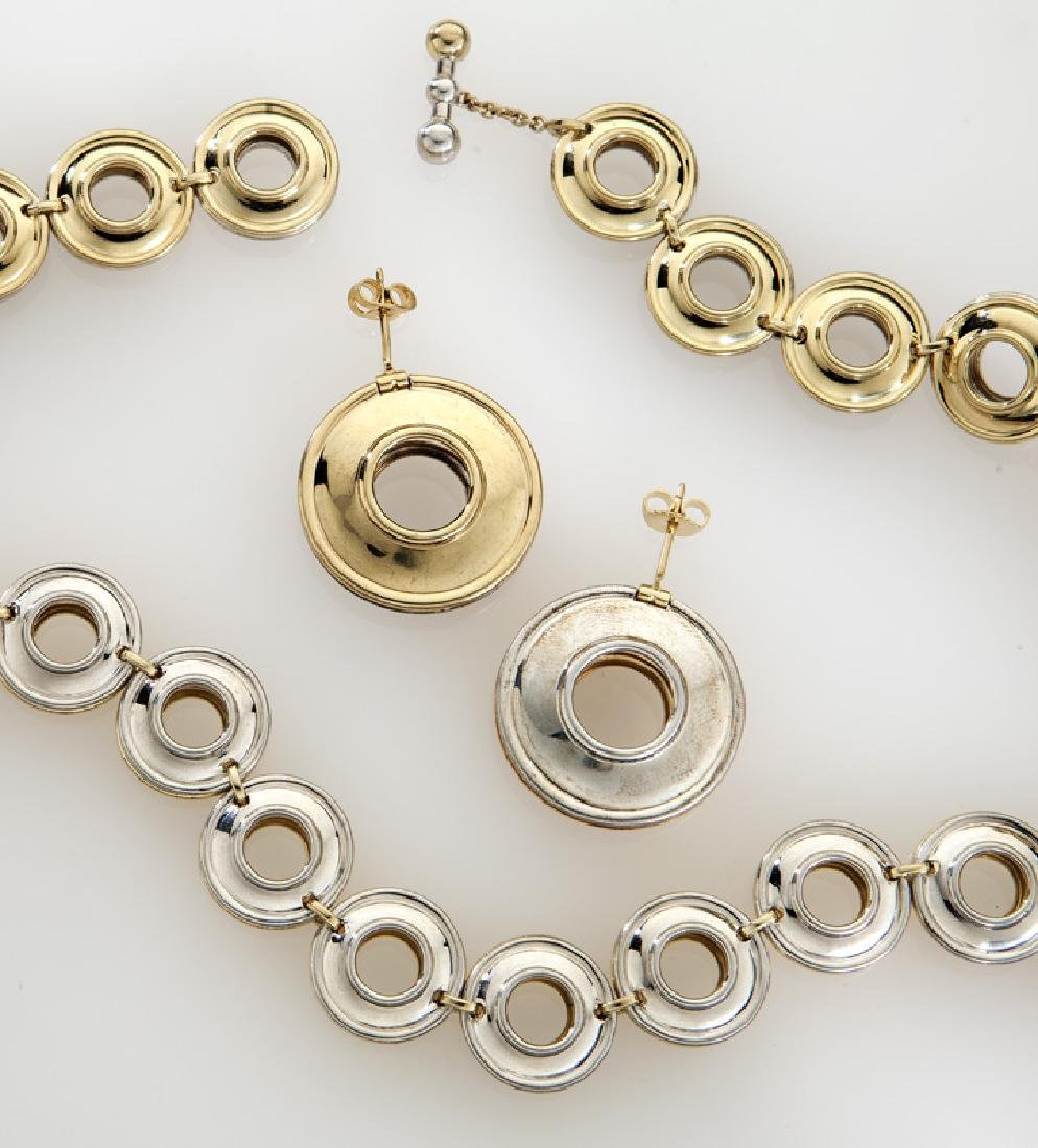 Paloma Picasso for Tiffany & Co. 18K/sterling set, - 2