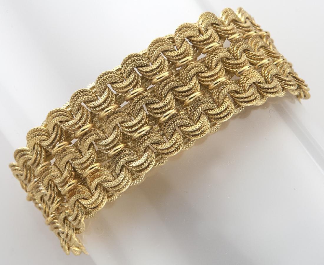 Italian 18K gold mesh bracelet
