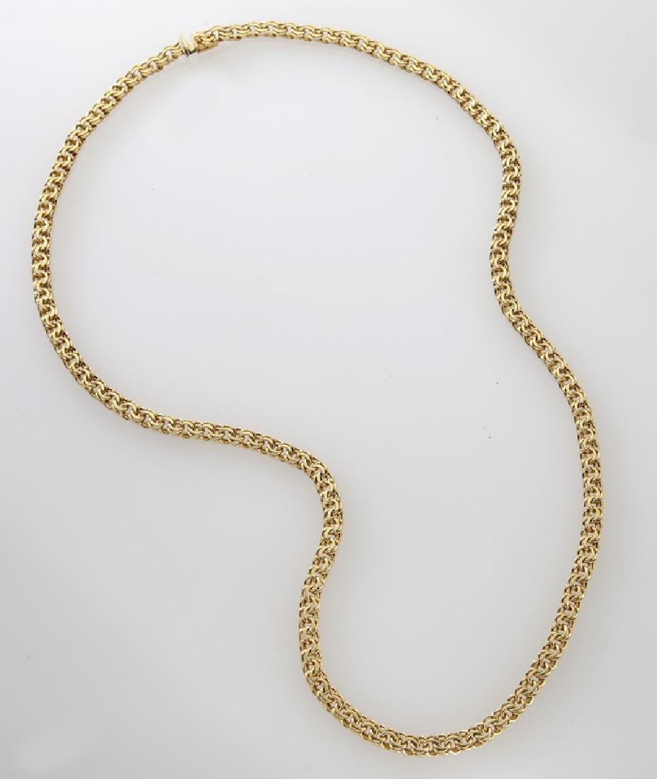 Tiffany & Co. 18K yellow gold chain link necklace.