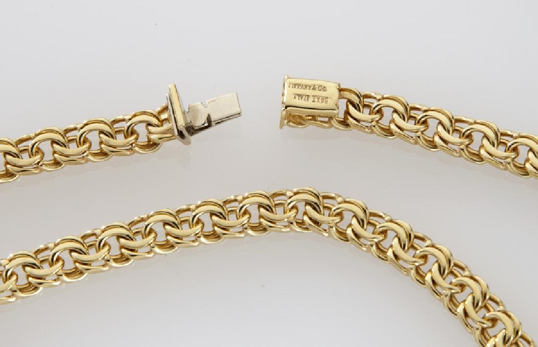 Tiffany & Co. 18K yellow gold chain link necklace. - 2