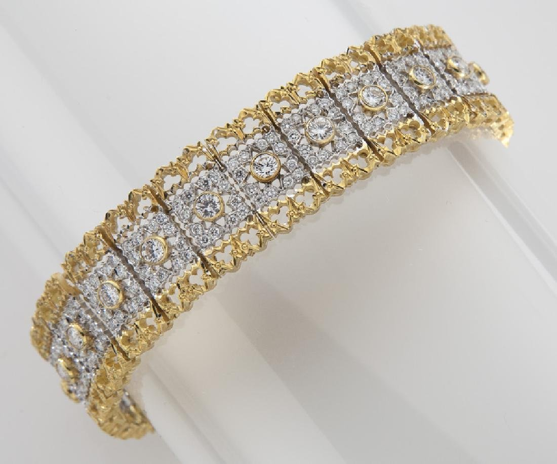 Italian Federici 18K white and yellow gold and