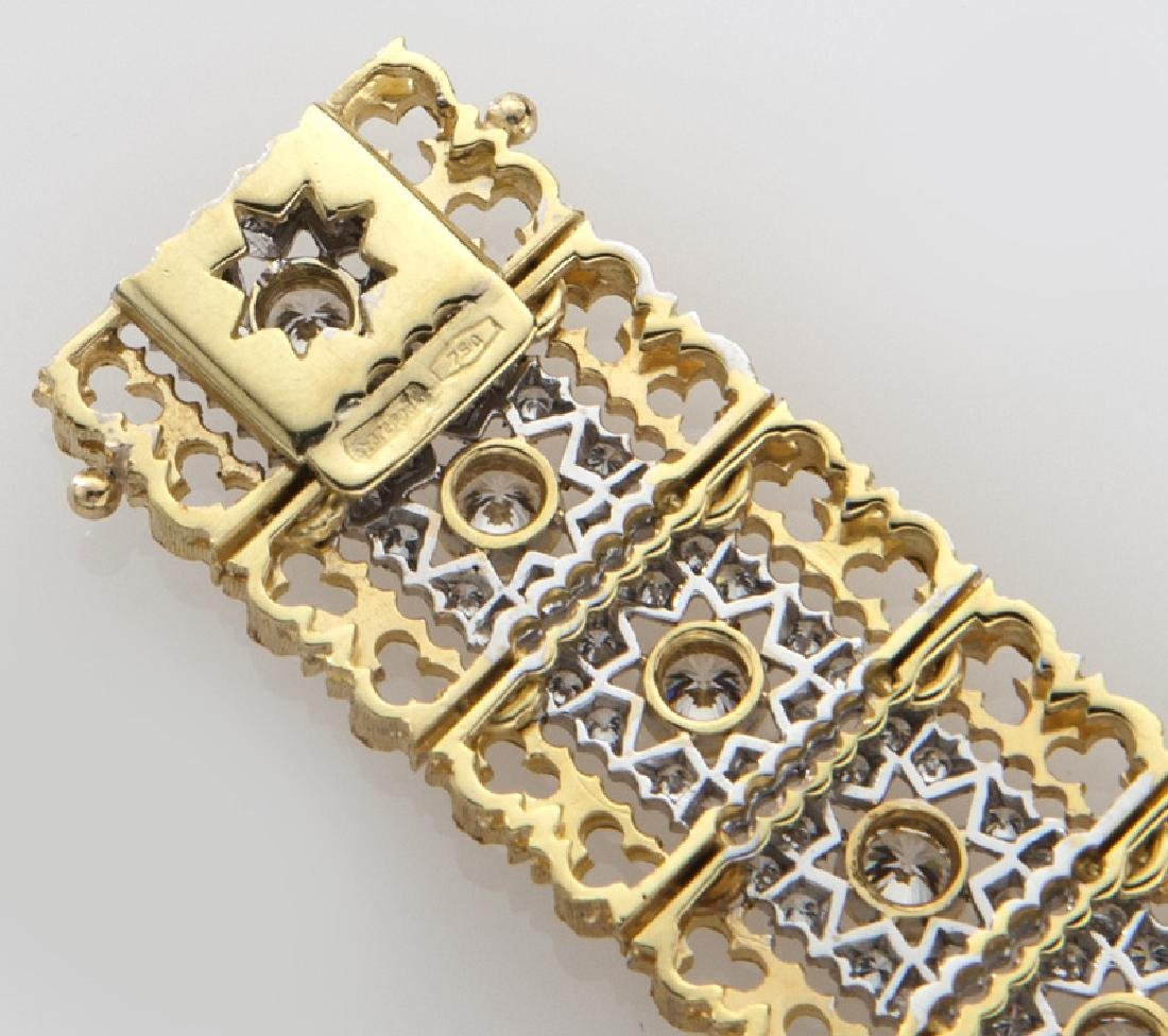 Italian Federici 18K white and yellow gold and - 4