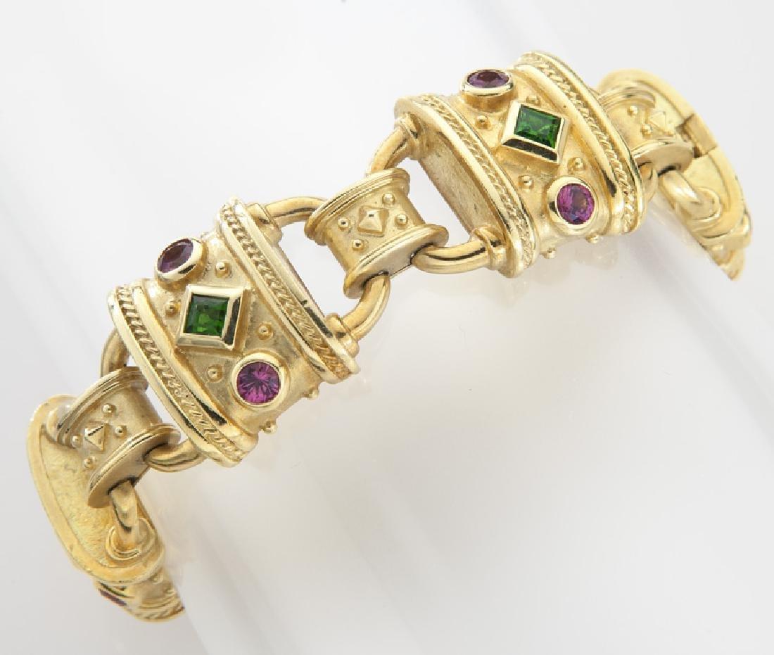 Seidengang 18K gold, emerald and tourmaline