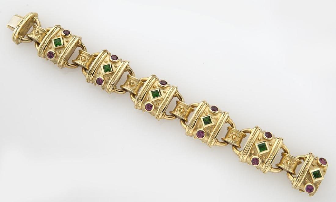 Seidengang 18K gold, emerald and tourmaline - 2