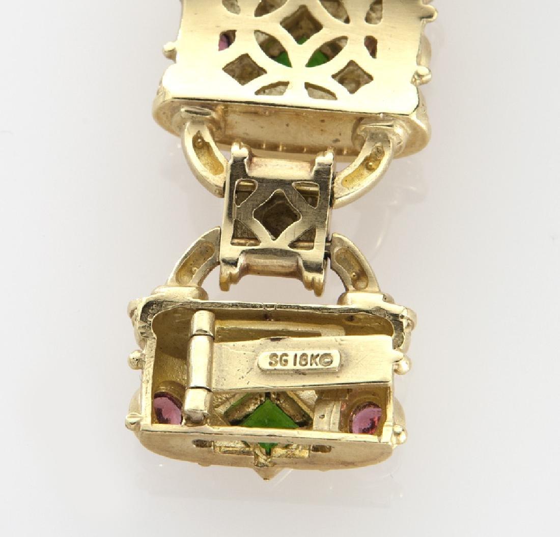 Seidengang 18K gold, emerald and tourmaline - 4