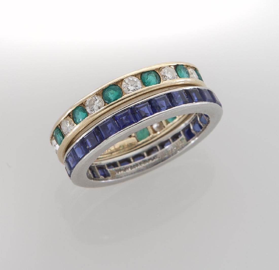 (2) Tiffany & Co. eternity bands