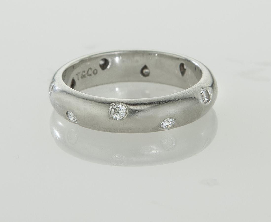 Tiffany & Co. platinum and diamond Etoile band - 2