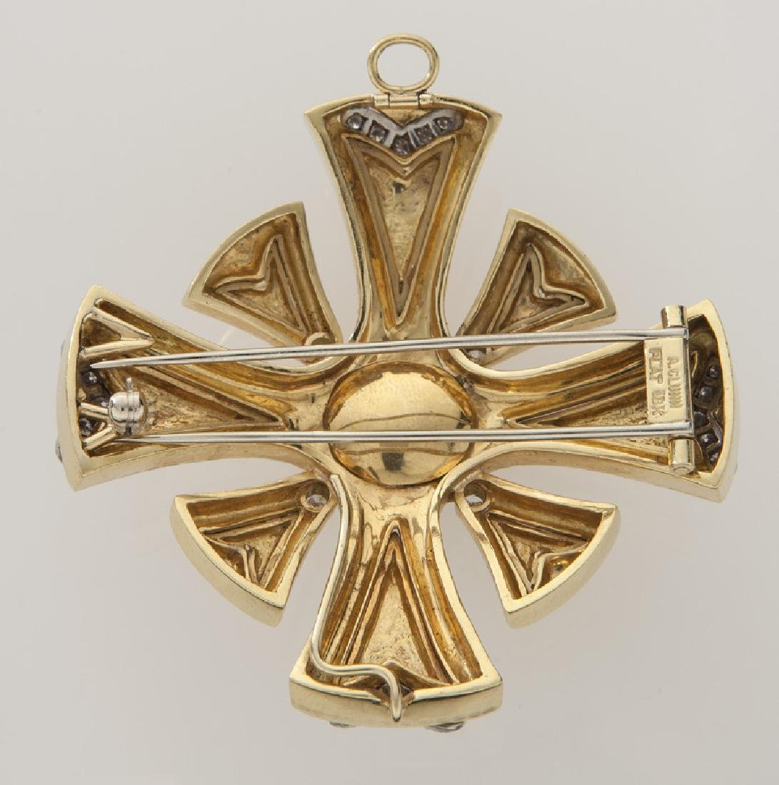 Andrew Clunn plat., 18K, diamond and pearl pendant - 2