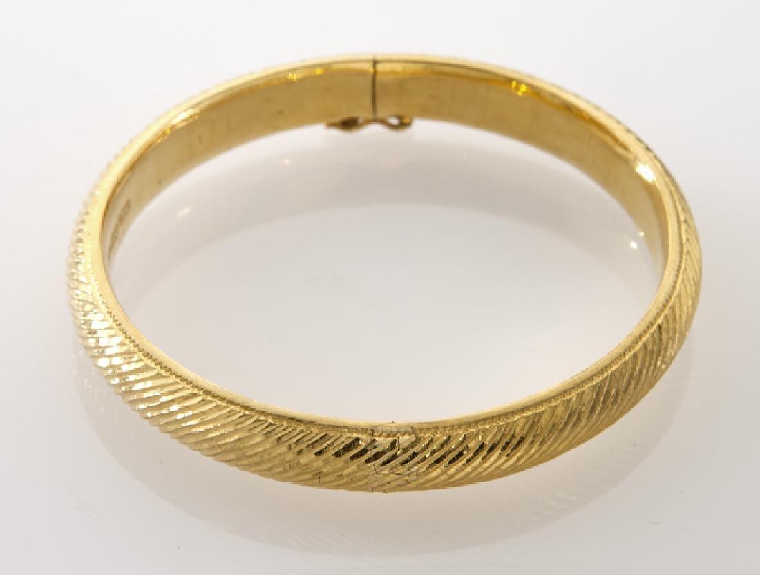 Chinese 24K gold bangle bracelet. - 2