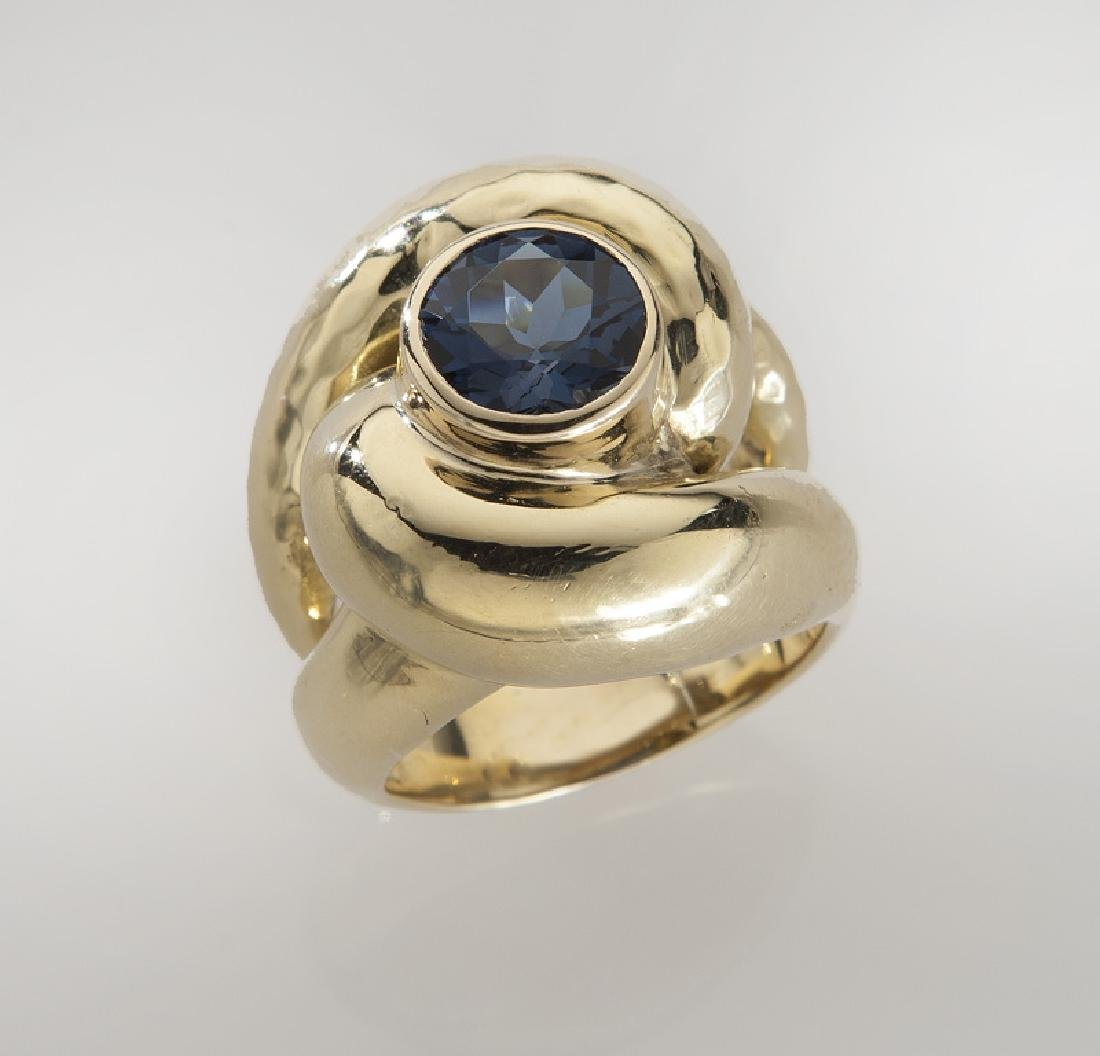Andrew Clunn 18K gold and tourmaline dinner ring. - 2