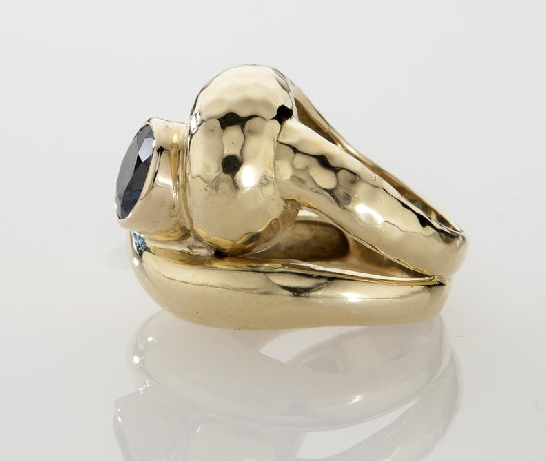 Andrew Clunn 18K gold and tourmaline dinner ring. - 3