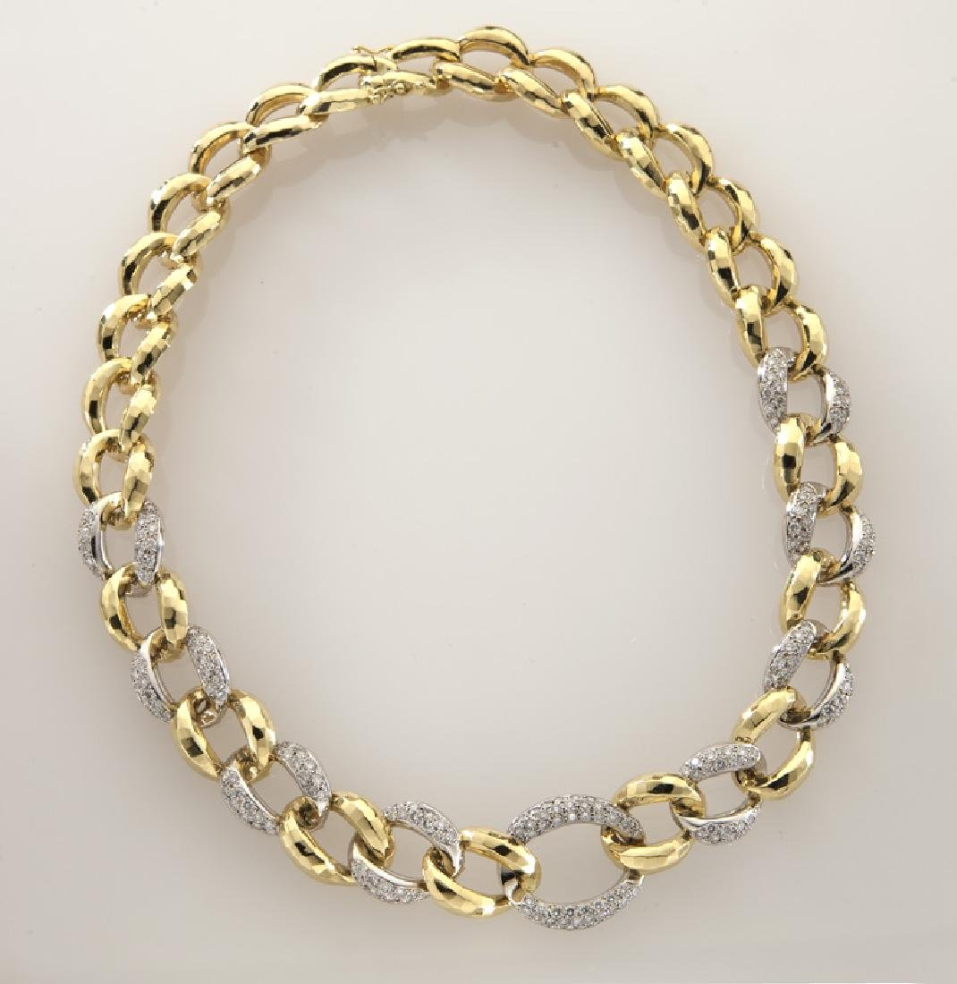 Rotkel 18K gold and diamond necklace