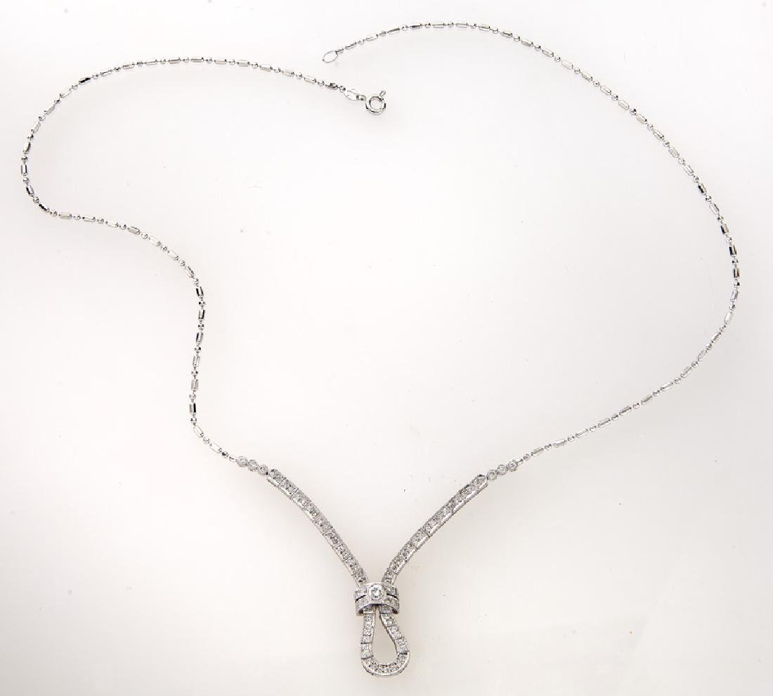 Italian 18K gold and diamond necklace.