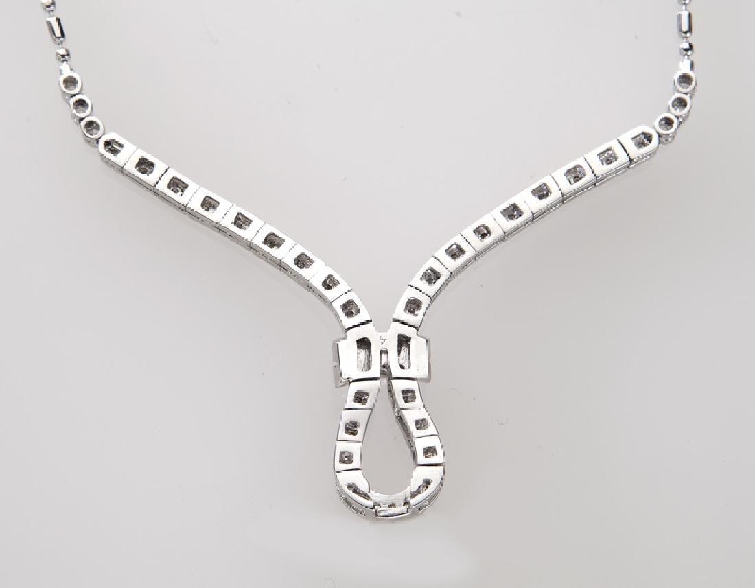 Italian 18K gold and diamond necklace. - 3