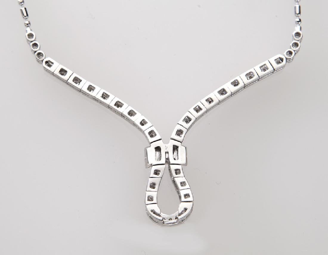 Italian 18K gold and diamond necklace. - 3