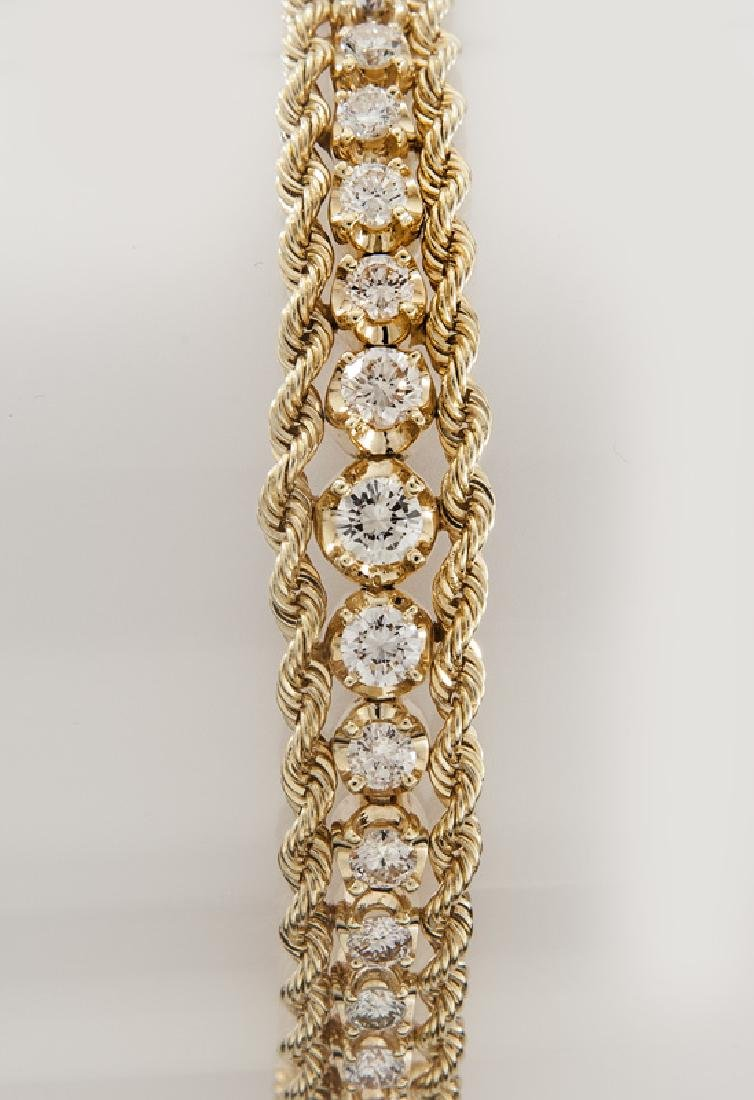 14K gold and diamond bracelet - 2