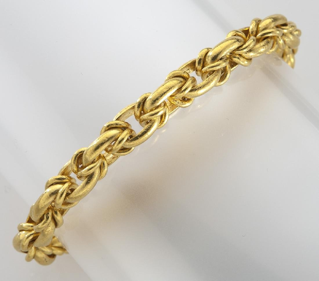 German 18K gold link bracelet.