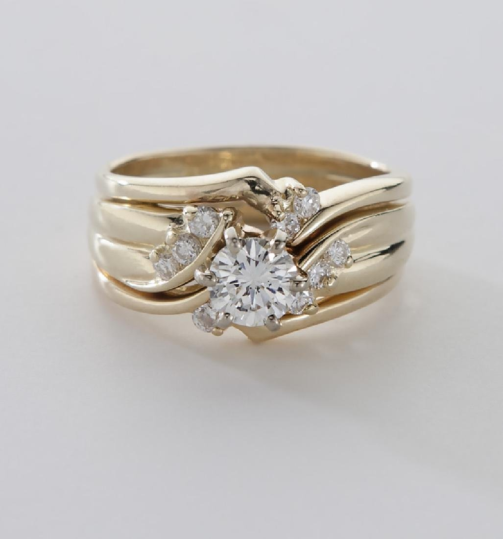 14K gold and diamond ring - 3