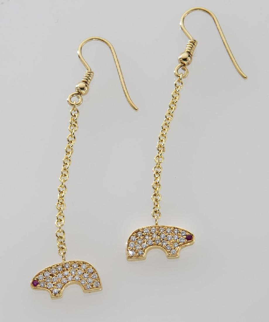 18K gold, diamond and ruby bear suite - 3