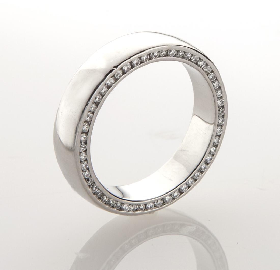 Platinum and diamond men's ring.