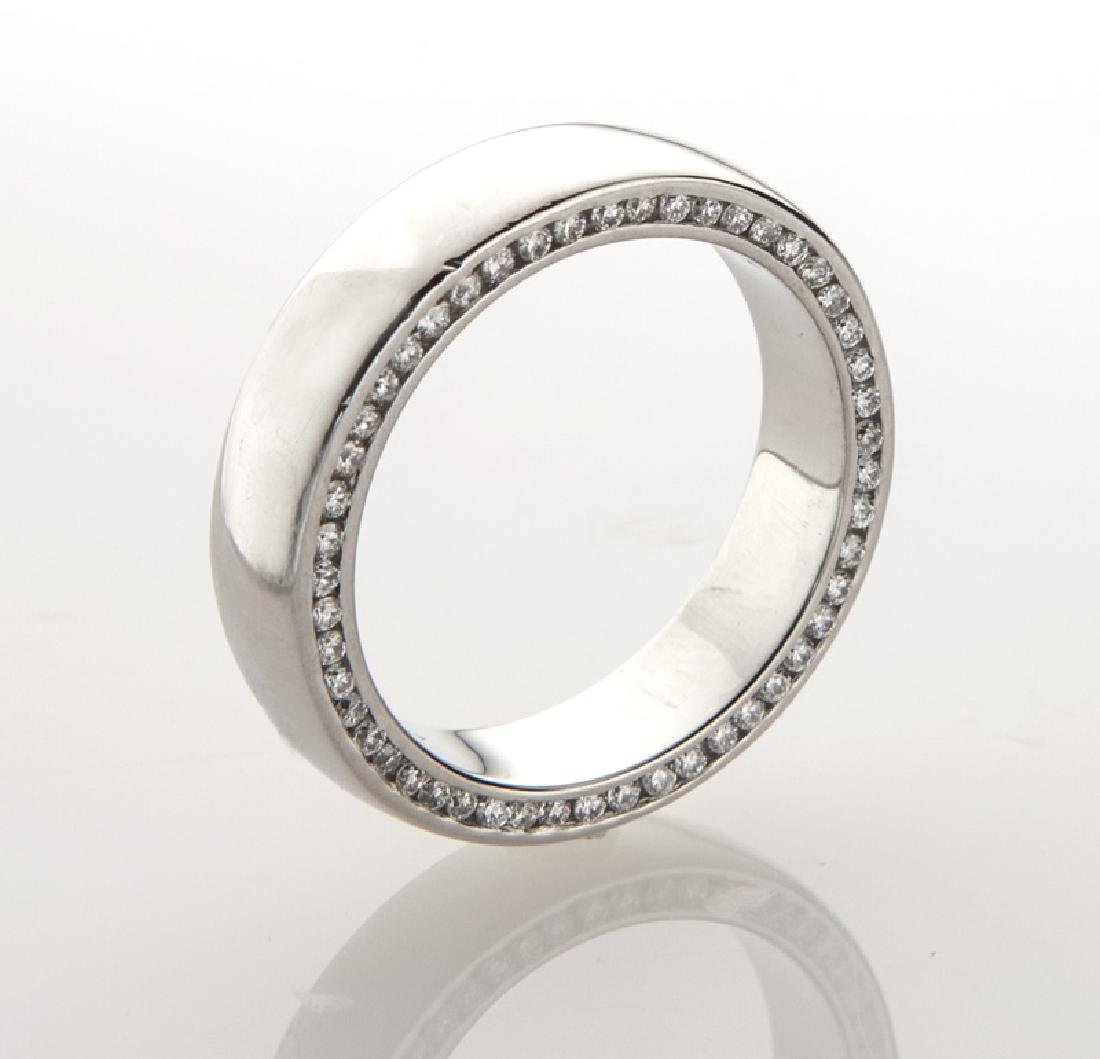 Platinum and diamond men's ring.